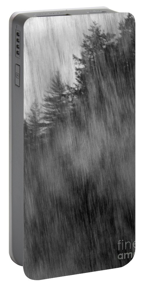 Waterfalls Portable Battery Charger featuring the photograph Behind The Falls by Richard Rizzo