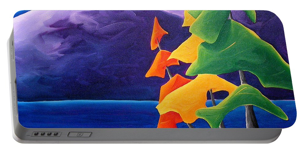 Landscape Portable Battery Charger featuring the painting Being Thankful by Richard Hoedl