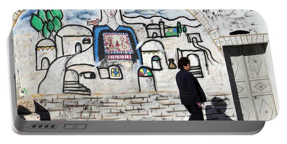 Bethlehem Portable Battery Charger featuring the photograph Beit Jala - I Am Looking At You by Munir Alawi