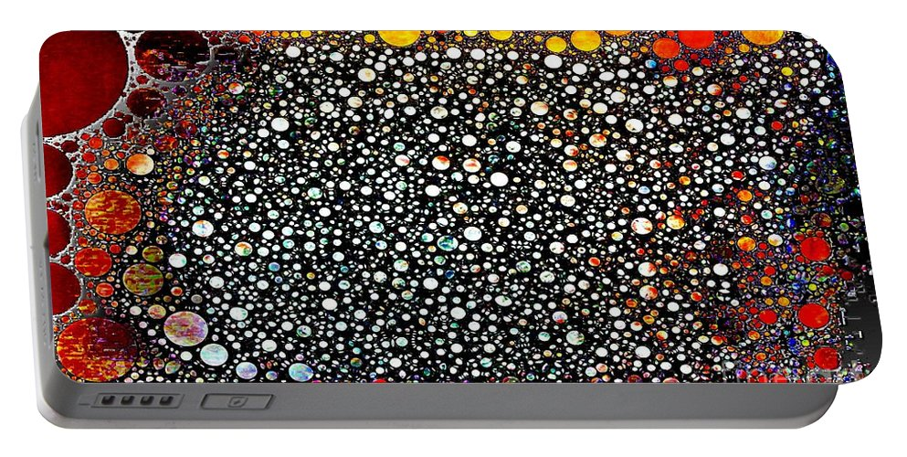 Abstract Portable Battery Charger featuring the digital art Bejeweled by Ron Bissett