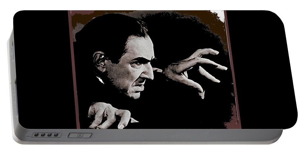 Bela Lugosi Circa 1935 Portable Battery Charger featuring the photograph Bela Lugosi Circa 1935-2015 by David Lee Guss