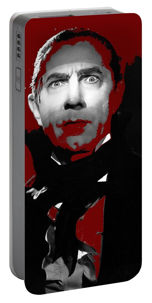 Bela Lugosi Mark Of The Vampire 1935 Portable Battery Charger featuring the photograph Bela Lugosi Mark Of The Vampire 1935-2015 by David Lee Guss