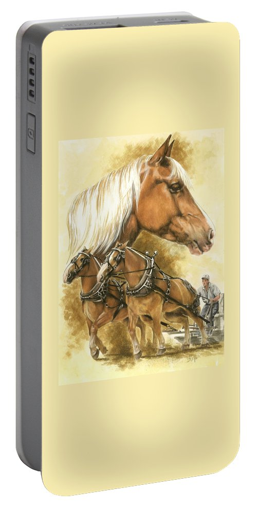 Equus Portable Battery Charger featuring the mixed media Belgian by Barbara Keith