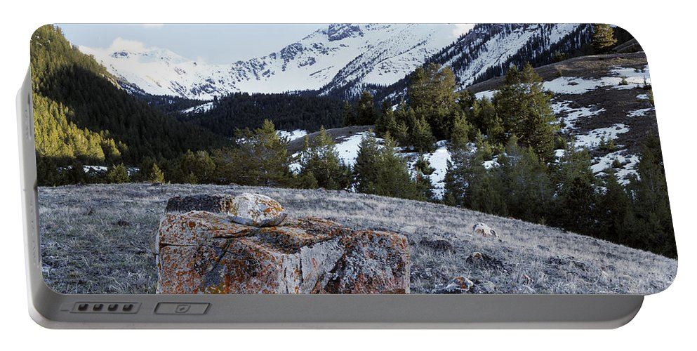Idaho Scenics Portable Battery Charger featuring the photograph Bell Mountain by Leland D Howard