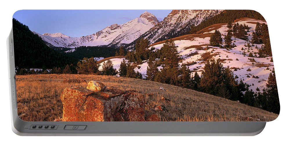 Bell Mountain Portable Battery Charger featuring the photograph Bell Mountain Sunrise by Leland D Howard