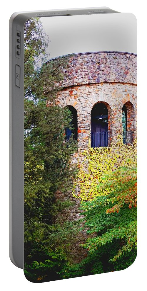 Bell Portable Battery Charger featuring the digital art Bell Tower by Richard Ortolano