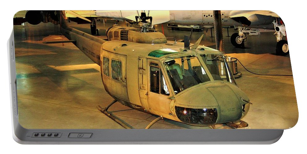 Bell Uh-1h Iroquois Huey Smokey Iii Helicopter Portable Battery Charger featuring the photograph Bell Uh-1h Iroquois Huey Smokey IIi Helicopter by Patti Whitten