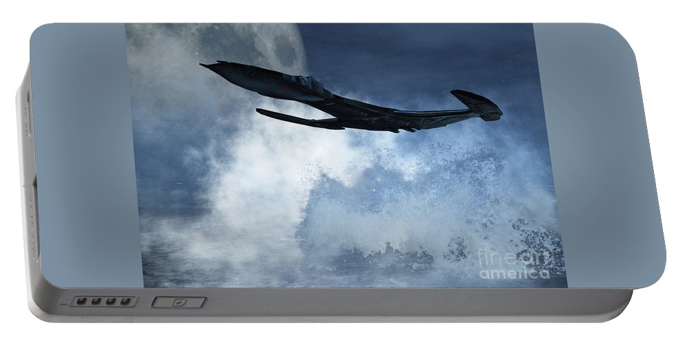 Flight Portable Battery Charger featuring the digital art Below Radar by Richard Rizzo