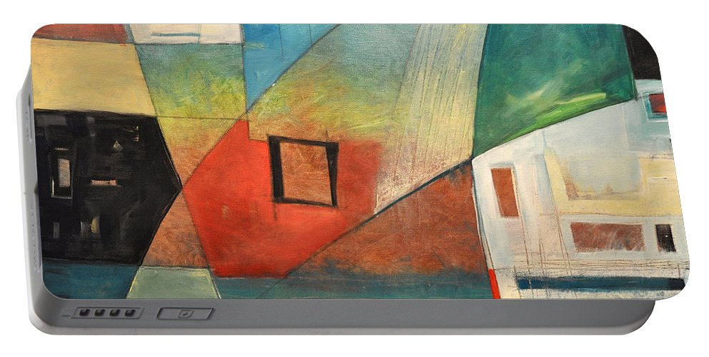 Jazz Portable Battery Charger featuring the painting Bemsha Swing by Tim Nyberg