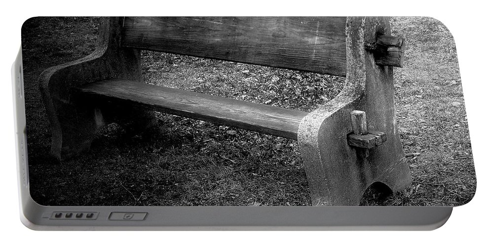 Barn Portable Battery Charger featuring the photograph Bench By The Barn by RC DeWinter