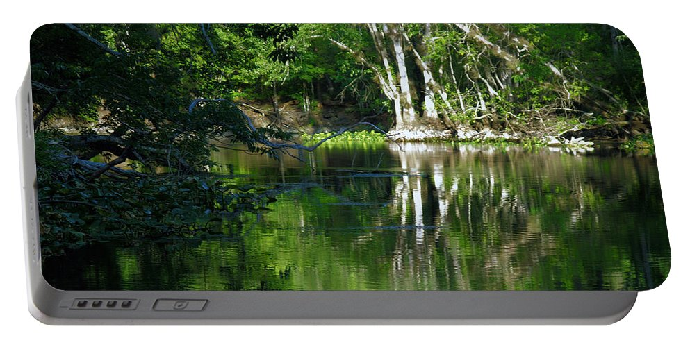 Ocklawaha River Portable Battery Charger featuring the photograph Bend Of The Ocklawaha River by Bob Johnson
