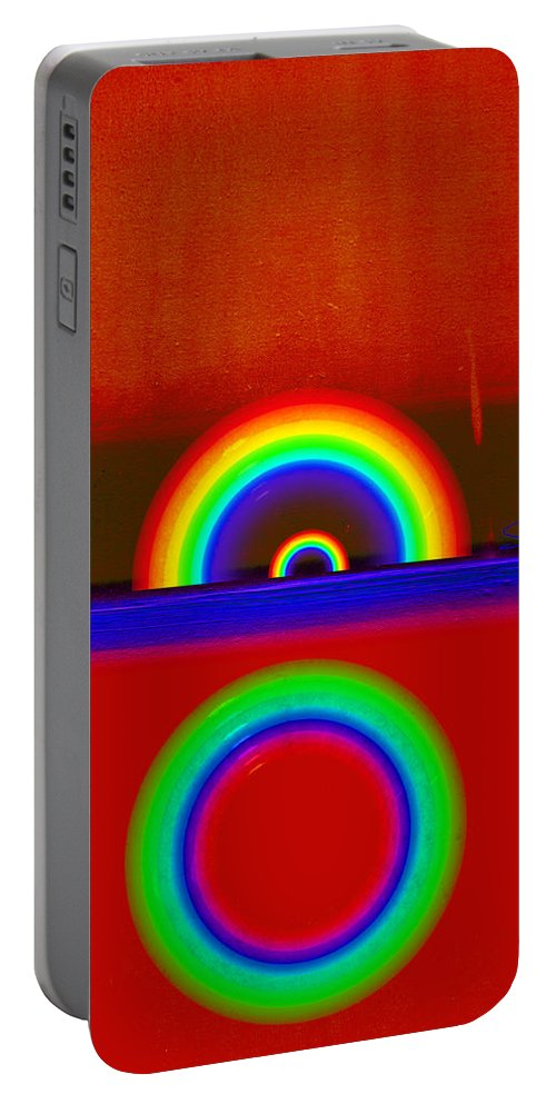 Rainbow Portable Battery Charger featuring the painting Beneath The Deep Blue Sea by Charles Stuart