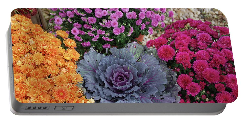 Flowers Portable Battery Charger featuring the photograph Bennington Farm 8273 by Guy Whiteley