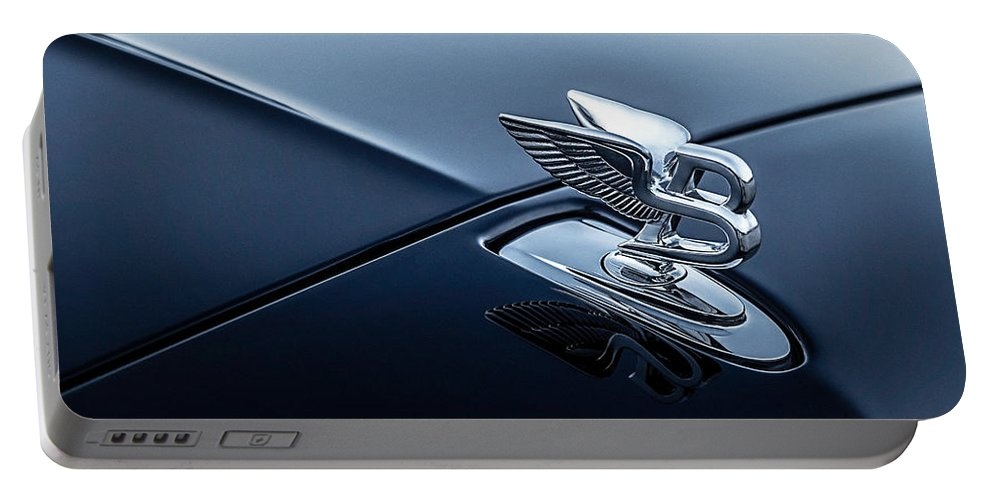 Hood Ornament Portable Battery Charger featuring the digital art Bentley Flying B by Douglas Pittman