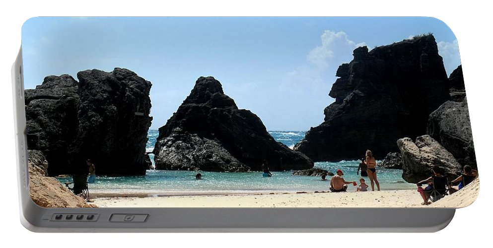Bermuda Portable Battery Charger featuring the photograph Bermuda Day At The Beach by Ian MacDonald