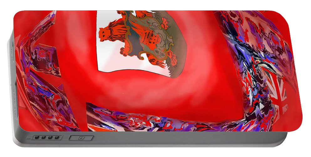 Abstract Portable Battery Charger featuring the photograph Bermuda Flags by Ian MacDonald