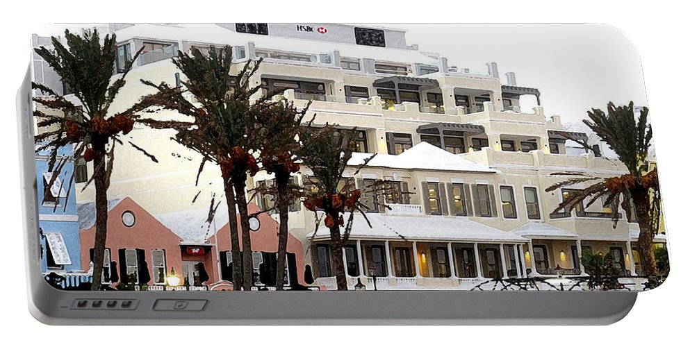 Bermuda Portable Battery Charger featuring the photograph Bermuda Front Street Four by Ian MacDonald