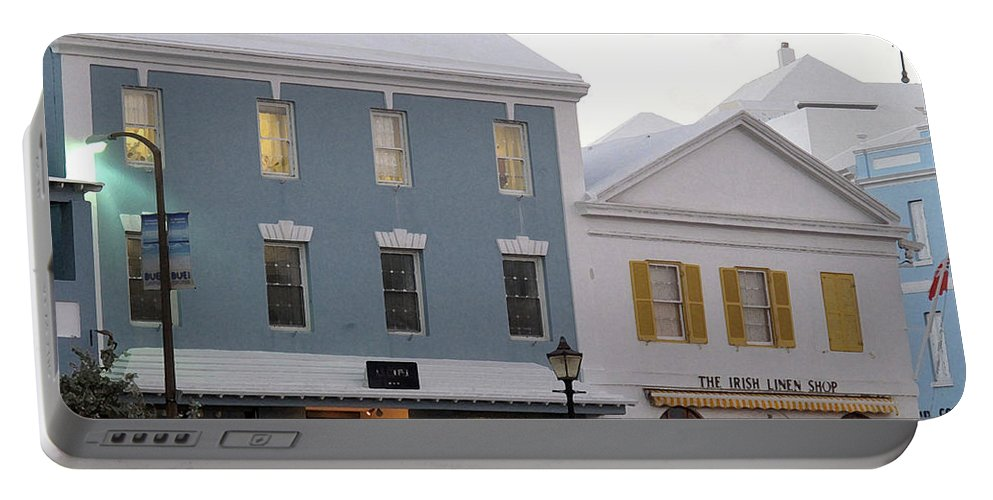 Bermuda Portable Battery Charger featuring the photograph Bermuda Front Street Two by Ian MacDonald