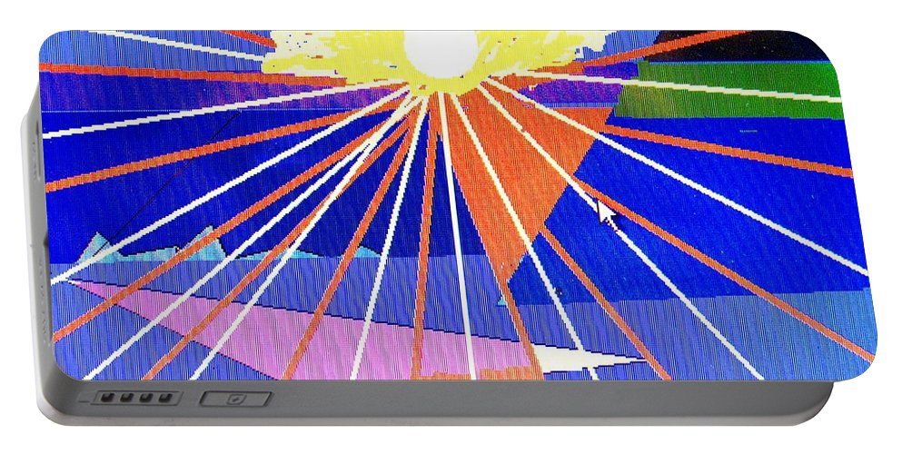 Sunset Portable Battery Charger featuring the digital art Bermuda Sunset by Ian MacDonald