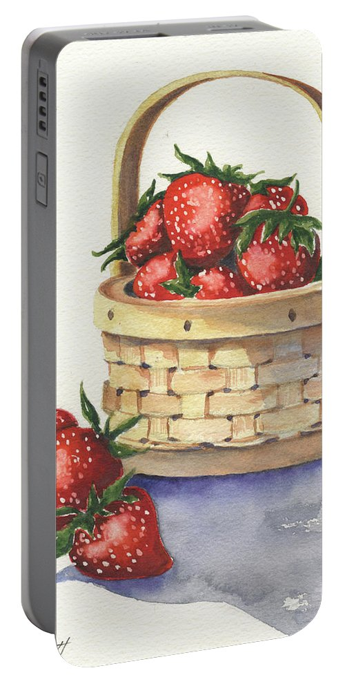 Berry Portable Battery Charger featuring the painting Berry Nice by Marsha Elliott