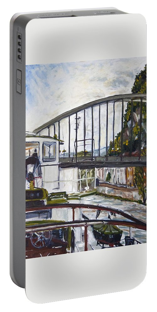 Landscape Portable Battery Charger featuring the painting Beskydy by Pablo de Choros