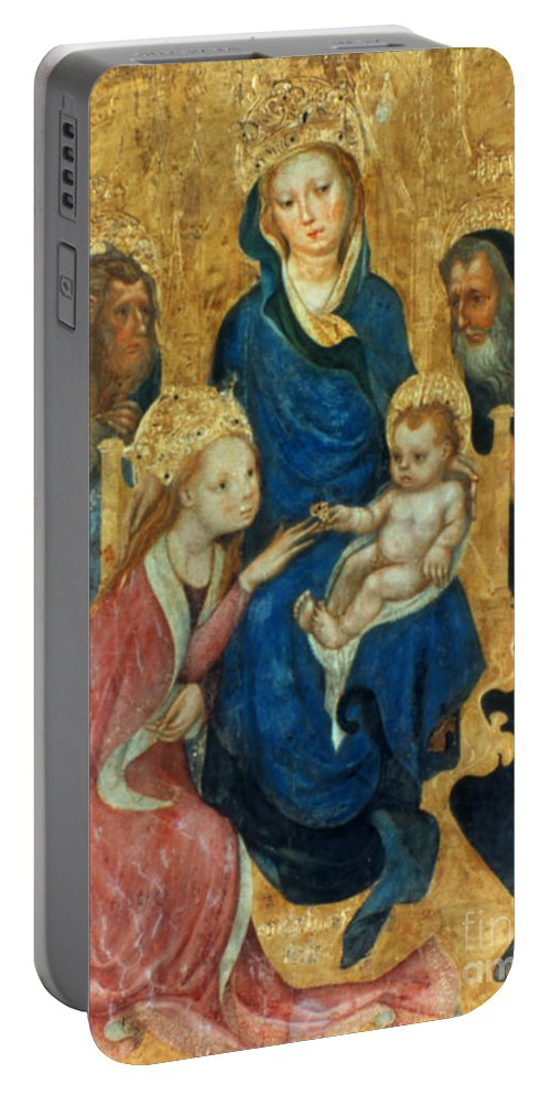 1404 Portable Battery Charger featuring the photograph Besozzo: St. Catherine by Granger