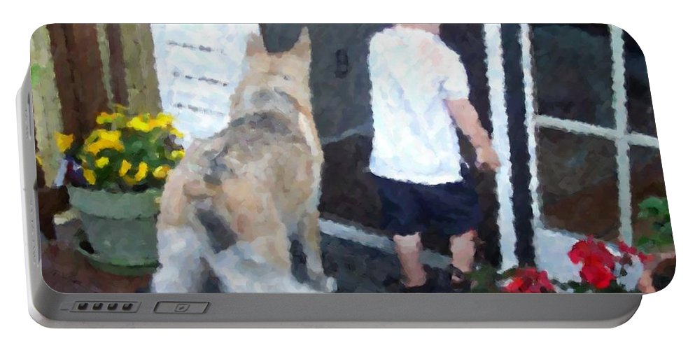 Dogs Portable Battery Charger featuring the photograph Best Friends by Debbi Granruth
