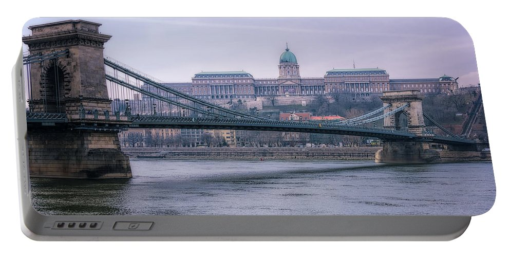 Joan Carroll Portable Battery Charger featuring the photograph Best View Of Buda Castle by Joan Carroll