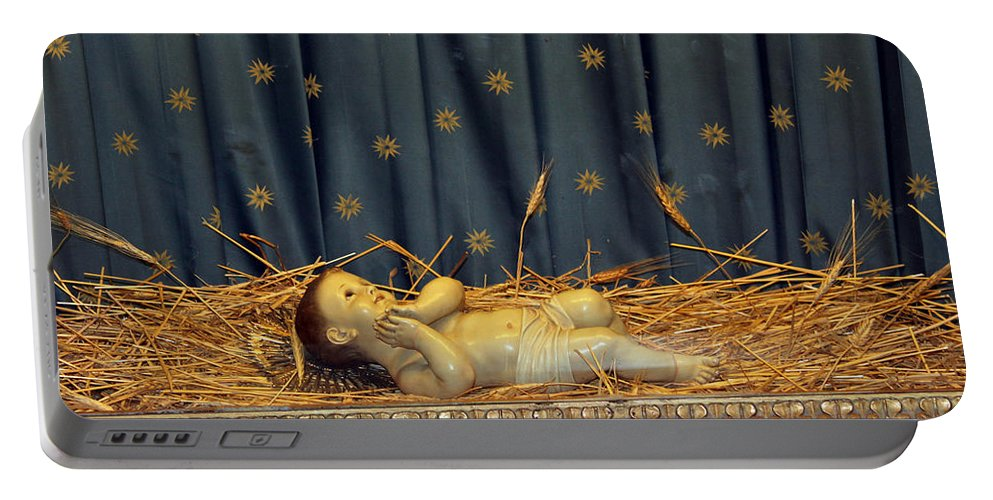 Bethlehem Portable Battery Charger featuring the photograph bethlehem - Baby Jesus by Munir Alawi