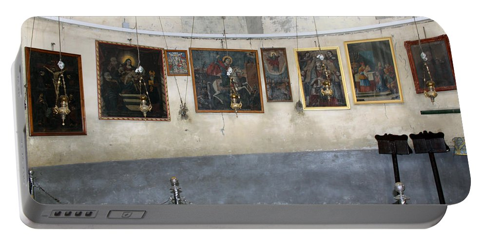 Nativity Portable Battery Charger featuring the photograph Bethlehem - Nativity Church Paintings by Munir Alawi