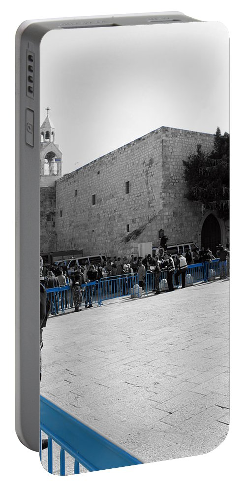 Bethlehem Portable Battery Charger featuring the photograph Bethlehem - Nativity Square by Munir Alawi