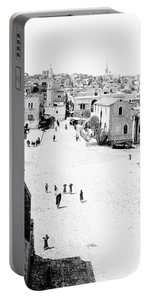 Bethlehem Portable Battery Charger featuring the photograph Bethlehem 1889s by Munir Alawi