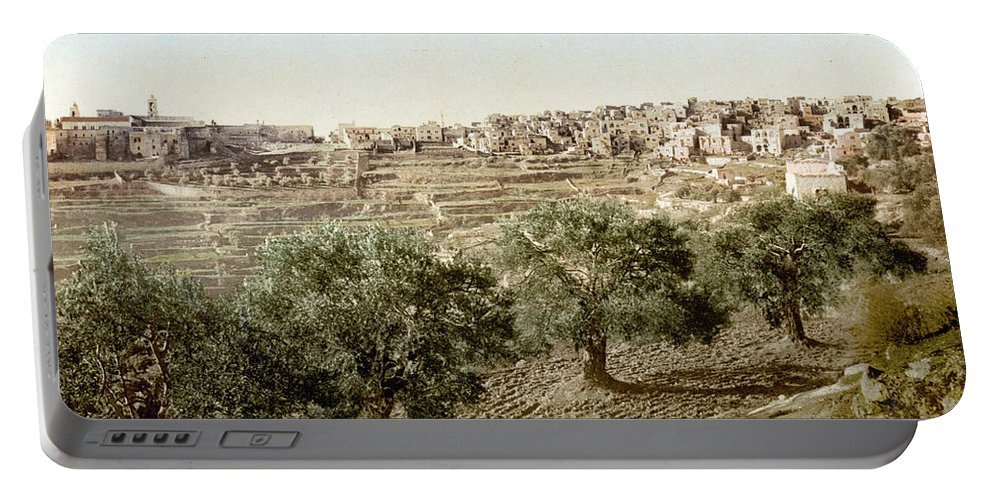 Bethlehem Portable Battery Charger featuring the photograph Bethlehem Field 1890 by Munir Alawi