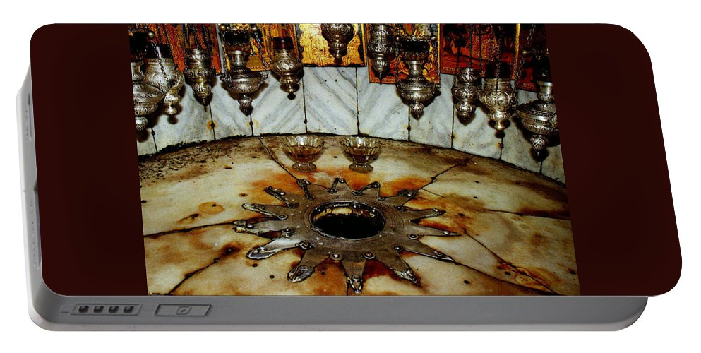 Nativity Portable Battery Charger featuring the photograph Bethlehem Star by Munir Alawi
