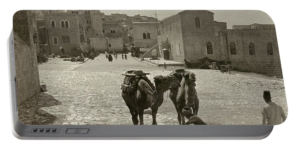 1911 Portable Battery Charger featuring the photograph Bethlehem: Street, C1911 by Granger