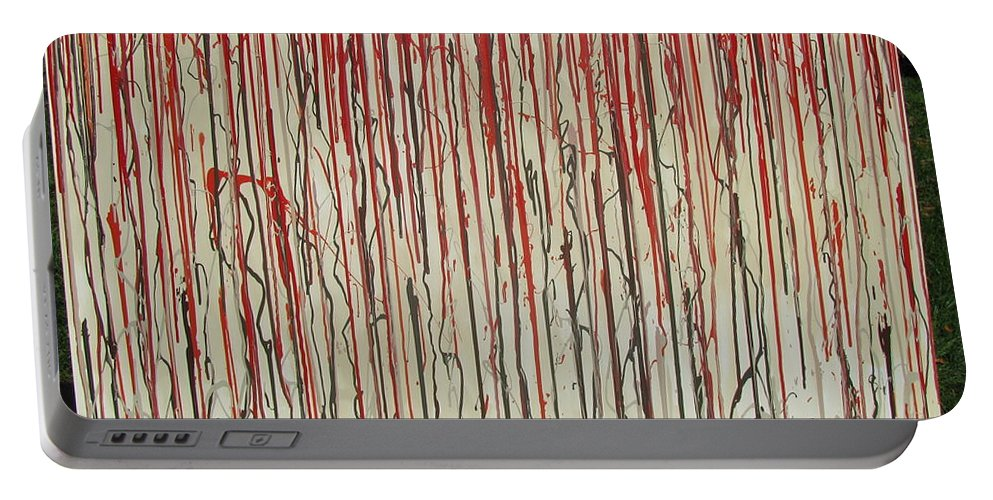 Blood Portable Battery Charger featuring the painting Betrayal by Jacqueline Athmann