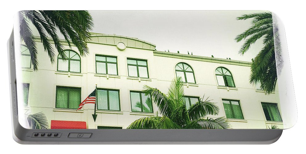 Beverly Hills Rodeo Drive Luxe Hotel By Nina Prommer Portable Battery Charger featuring the photograph Beverly Hills Rodeo Drive 5 by Nina Prommer