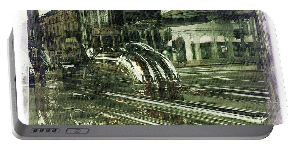 Beverly Hills Rodeo Drive Dior Window Reflection By Nina Prommer Portable Battery Charger featuring the photograph Beverly Hills Rodeo Drive 8 by Nina Prommer