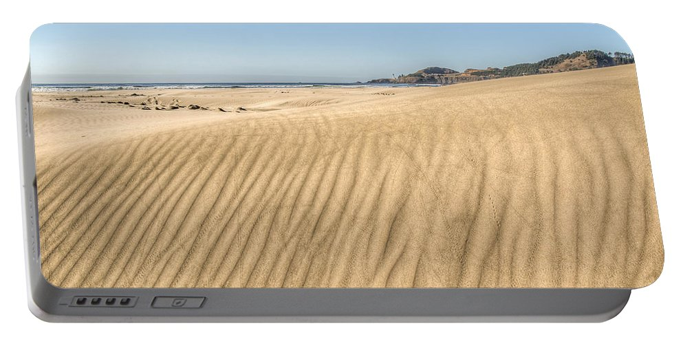Landscape Portable Battery Charger featuring the photograph Beyond The Dunes by Kristina Rinell