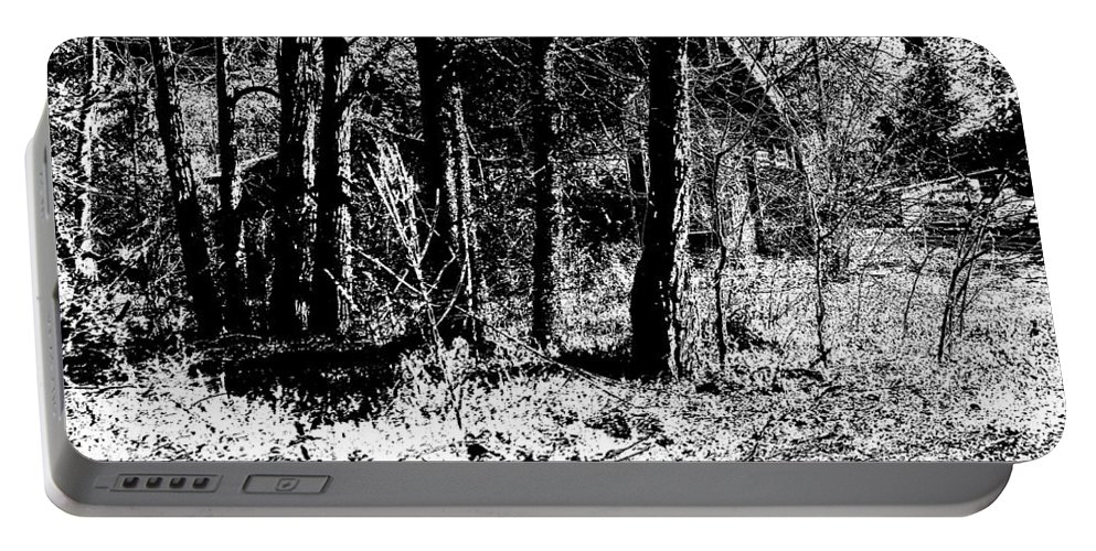 Outside Portable Battery Charger featuring the photograph Beyond The Trees by Charleen Treasures