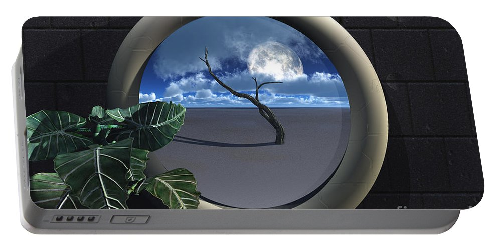 Walls Portable Battery Charger featuring the digital art Beyond Walls by Richard Rizzo