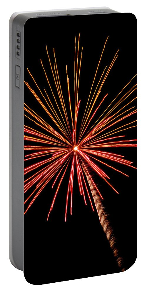 Bi-color Fireworks 2 Portable Battery Charger featuring the photograph Bi-color Fireworks 2 by Cynthia Woods