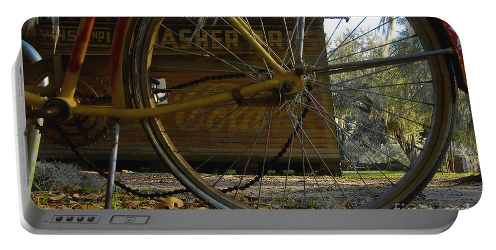 Bicycle Portable Battery Charger featuring the photograph Bicycle At Micanopy by David Lee Thompson