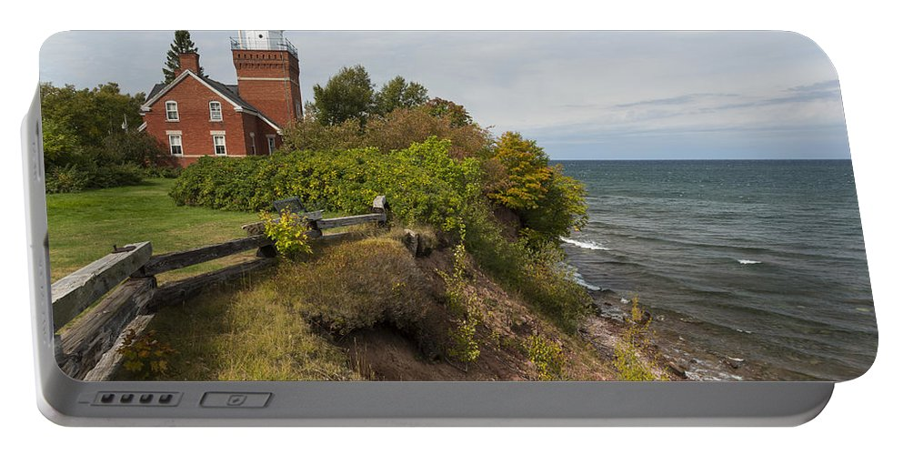 Big Portable Battery Charger featuring the photograph Big Bay Point Lighthouse 2 by John Brueske