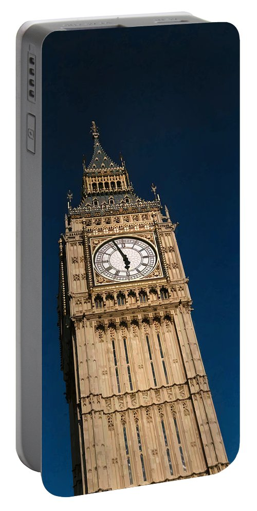 Big Ben Portable Battery Charger featuring the digital art Big Ben, London by Brian Shaw