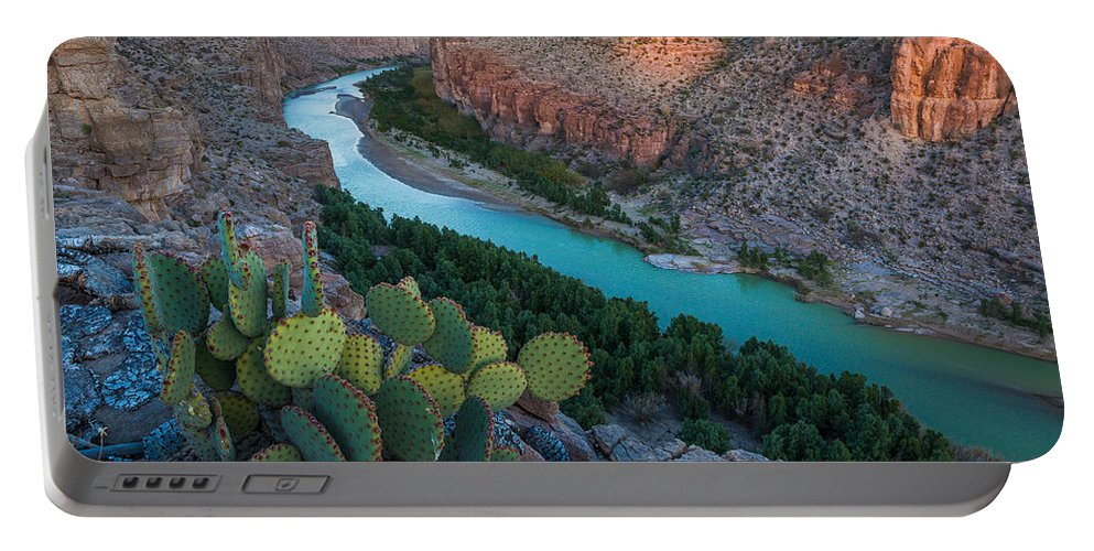 America Portable Battery Charger featuring the photograph Big Bend Evening by Inge Johnsson