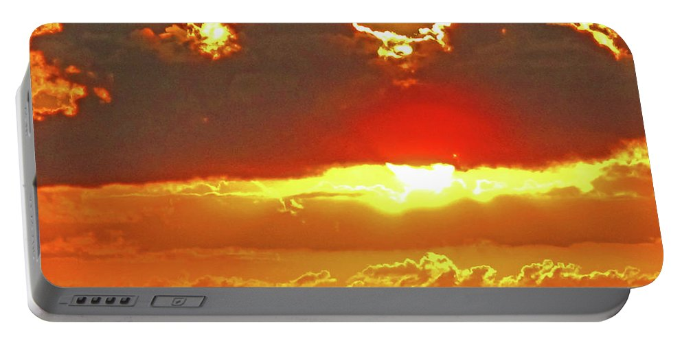 Sunset Portable Battery Charger featuring the photograph Big Bold Sunset by Ian MacDonald