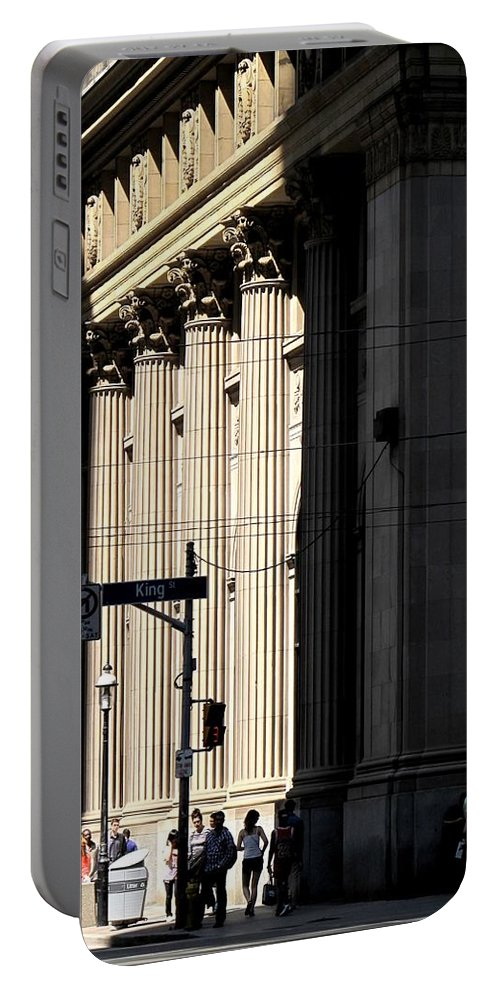 Toronto Portable Battery Charger featuring the photograph Big City Girls by Ian MacDonald