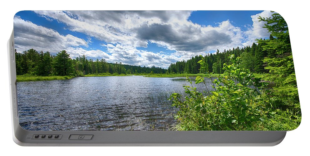 Clouds Portable Battery Charger featuring the photograph Big Clouds Blue Sky by Justin Mountain