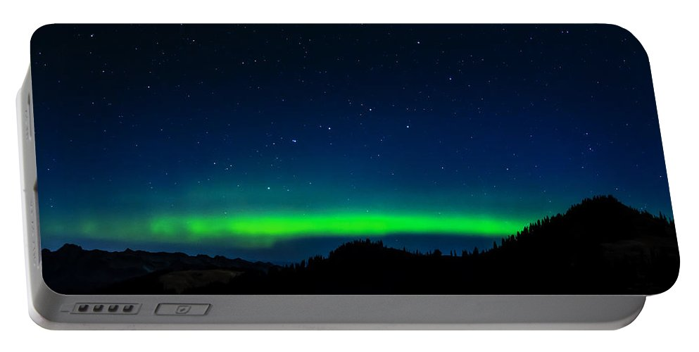 Northern Portable Battery Charger featuring the photograph Big Dipper Northern Lights by Pelo Blanco Photo